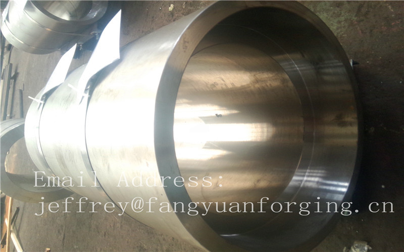 S S Forged Steel Products / Forged Ring Flange Cylinder With Machining